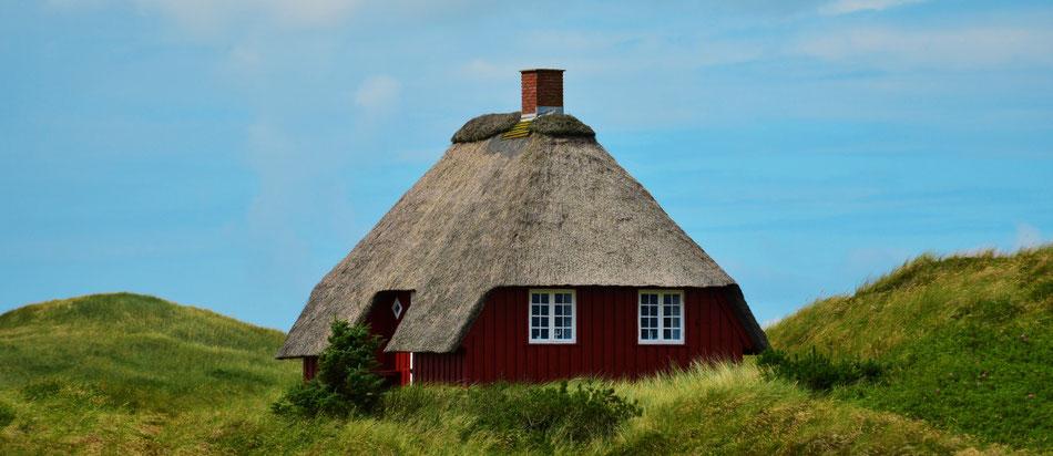 Reetdachhaus in den Dünen an der Nordsee - Fotografie von Liona Toussaint