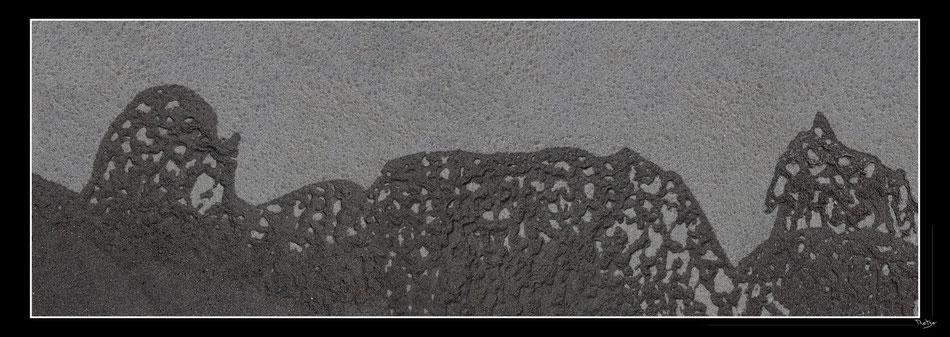 Vue travelling réassemblée, Taille d'impression: 40×110cm