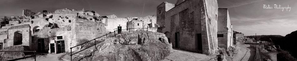 Matera, Sassi, Basilicate, Italie    (Vue à 170°, 40 × 200 cm)