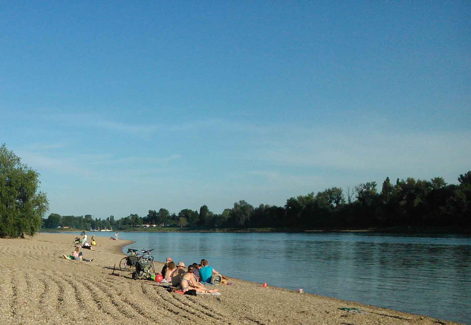 Strandfeeling am Rhein: Ob in Speyer, Mannheim oder Ludwigshafen....