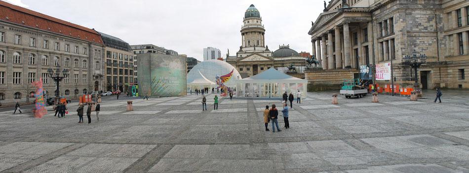 Montaje para producción de eventos en Berlín. Cliente, Mapp 3D paraTurismo de Mexico. Montajes y renders 3D