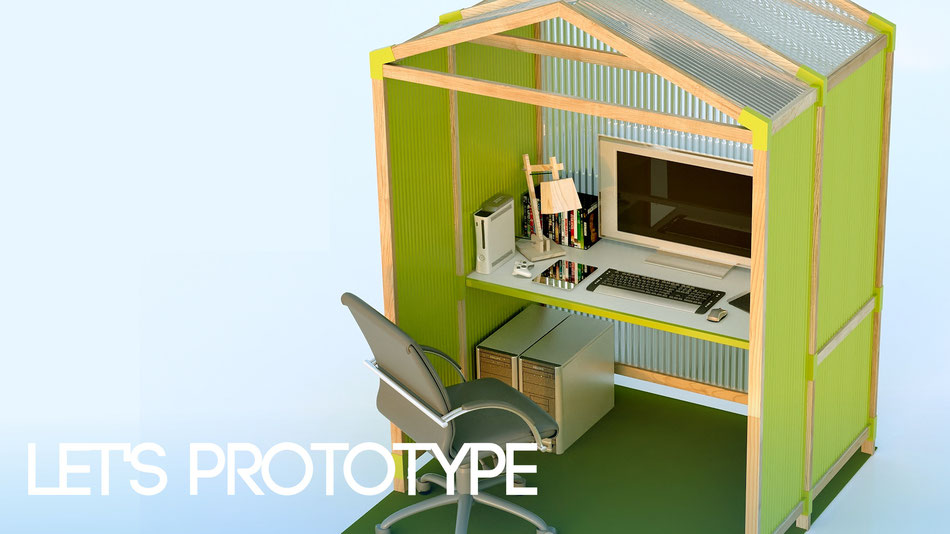 La infoarquitectura no sólo sirve para mostrar espacios, también productos en desarrollo, como en este caso mobiliario de oficina. Pablo A. Martín, 2014