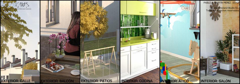 Render 3D Pinto - Icaras
