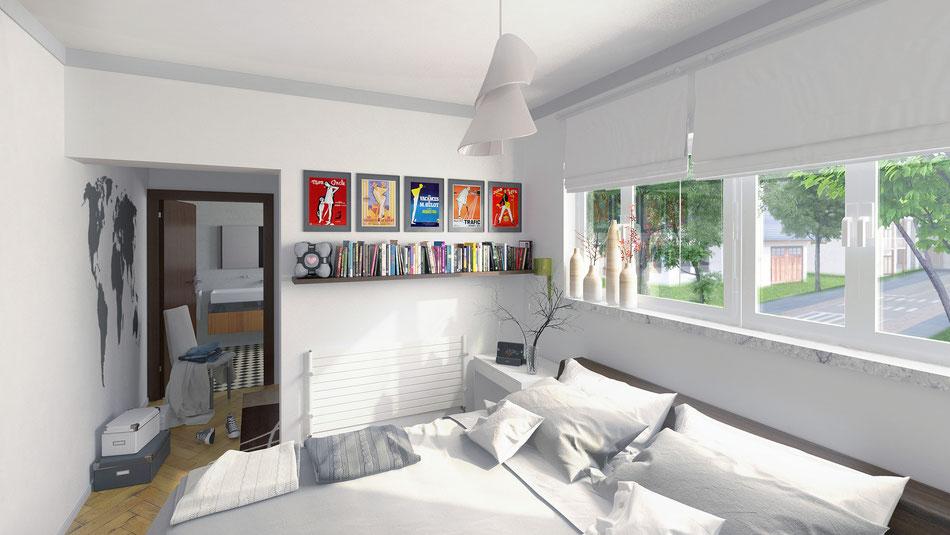 Render interior arquitectura