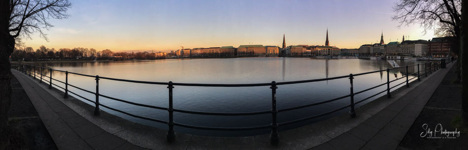 Hamburg / Binnenalster, , iPhone 6s, Panorama, © Silly Photography