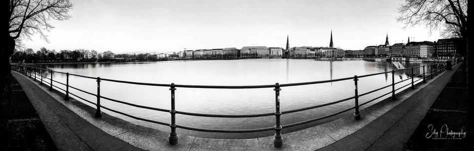 Hamburg / Binnenalster, , iPhone 6s, Panorama, © Silly Photography