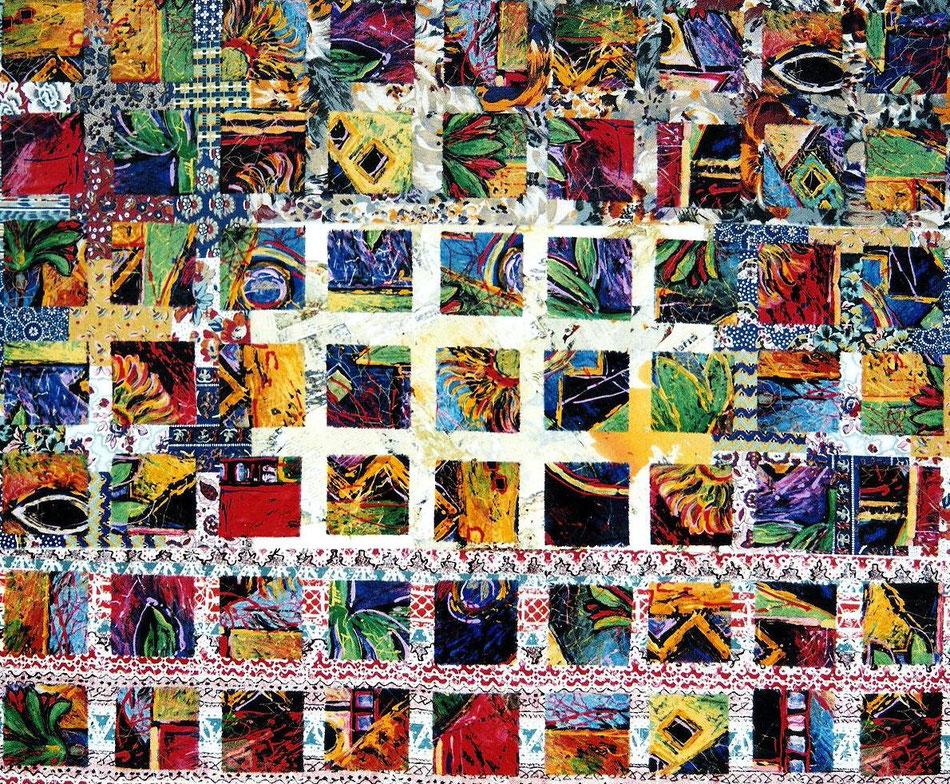 Quantus   - Stoff  auf Leinwand -  100 x 120 cm