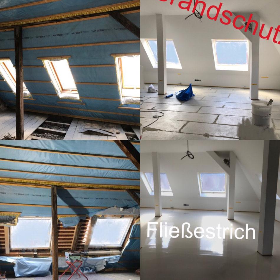 Dachausbau in Stuttgart -Wohnraumgewinnung Lichtdurchflutet - Dachflächenfenstermontage - Bodenlegearbeiten - Bodenbelagsarbeiten - Trockenbau - Malerarbeiten - Lackierarbeiten -Brandschutz