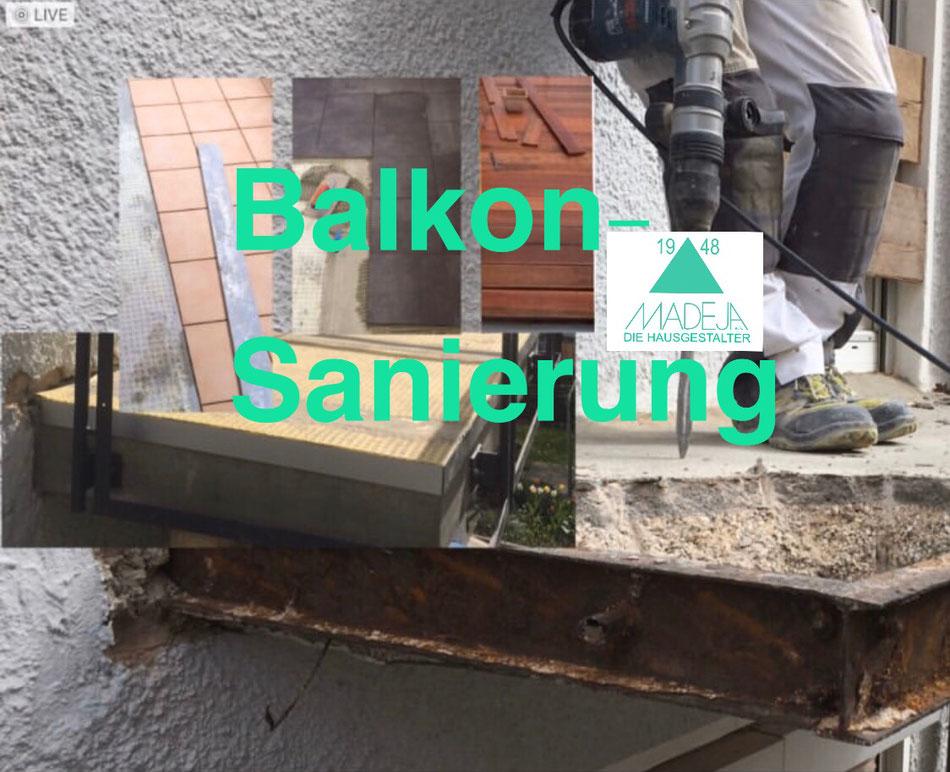 Balkonsanierung Abbruch und neuer Belag Fliesen und Holz MADEJA e.K. - DIE HAUSGESTALTER