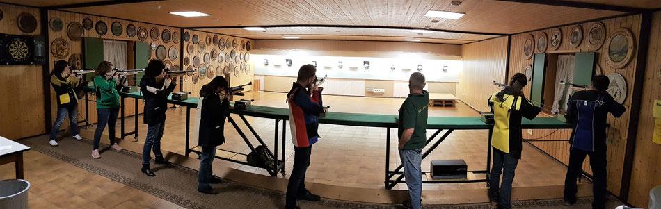 Schießstand der Schützengilde Wörnitz im Schützenhaus