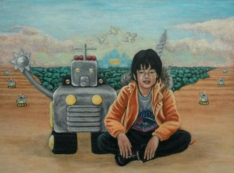 Dream Children F40 キャンバス アクリル 2014年