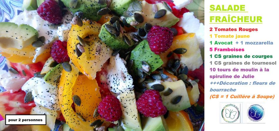 Salade fraîcheur La Spiruline de Julie