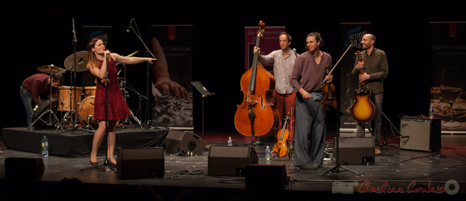 Theorem of Joy. Tom Peyron, Camille Durand, Thomas Julienne,  Boris Lameran, Thomas Saint-Laurent. Tremplin Action Jazz 2017. Le Rocher de Palmer