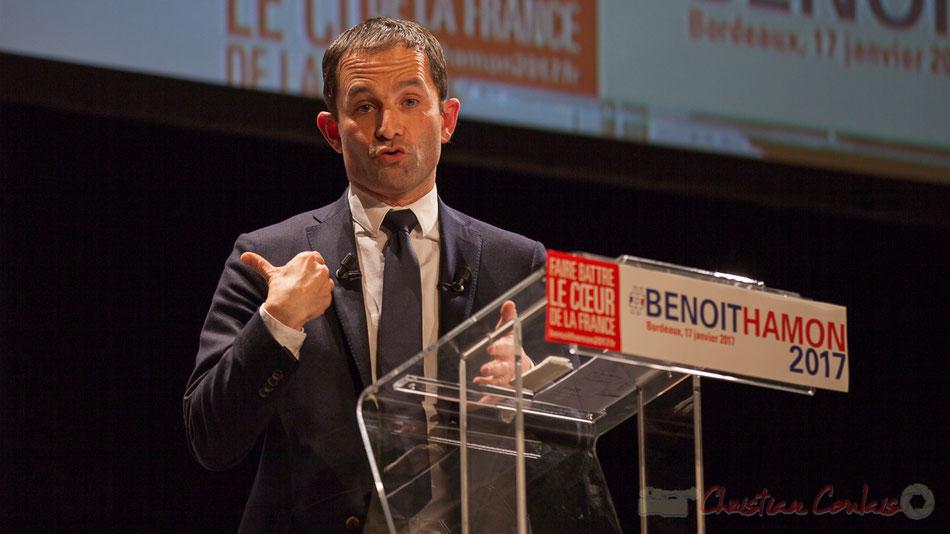 Benoît Hamon, l'accroche-cœur de jeunes et des moins jeunes, Primaire du Parti Socialiste et du Parti Radical de Gauche, 17 janvier 2017, théâtre Fémina, Bordeaux