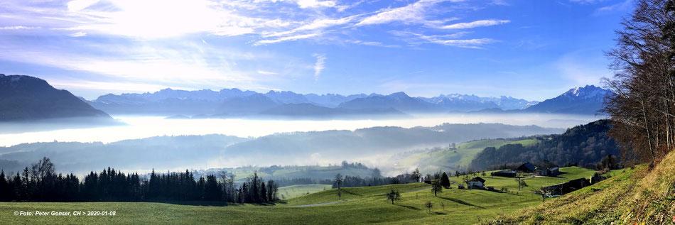 Udligenswil (Hasenberg) mit Blick in die Zentralschweiz