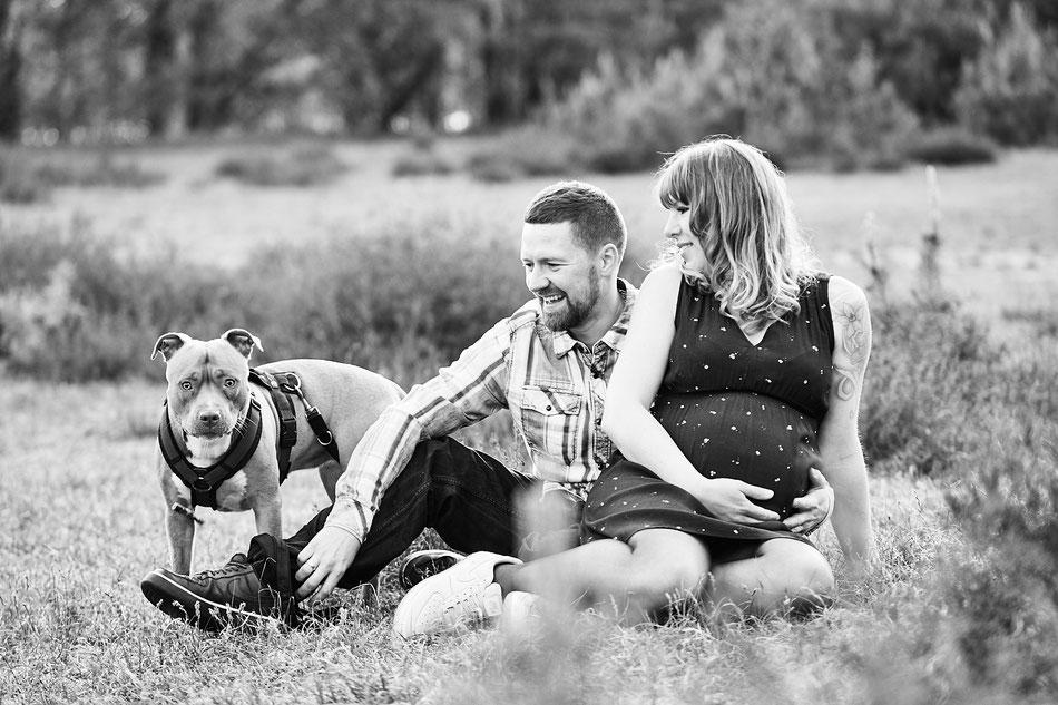 Babybauchfotos Bremen, Schwangerschaftsshooting Bremen, Fotoshootings Bremen mit Hund