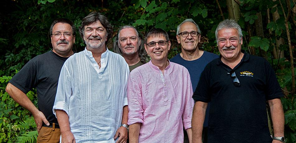 B&O v. l.: Erich Fading, Manfred Papp, Rolf Lochbühler, Torsten Roschlaub,  Robert Schickle u. Karl Fading. Foto: Uwe Richter