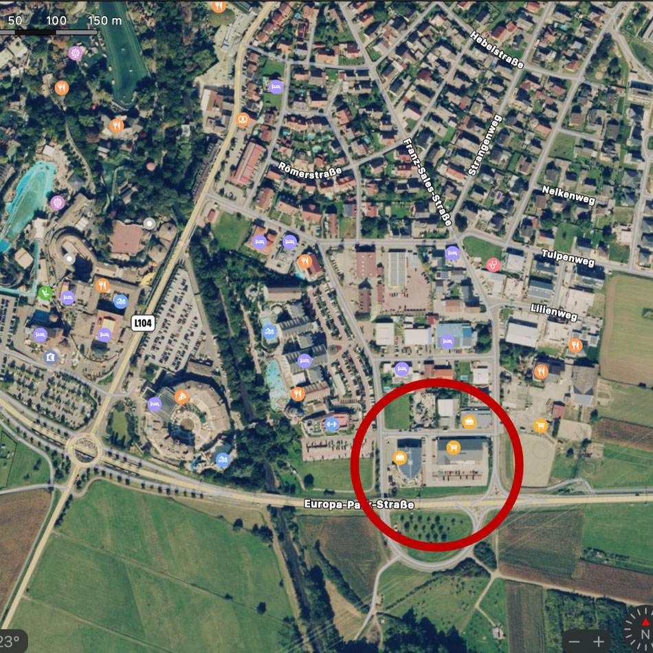 Quelle: Apple Maps / Im Kreis - Supermarkt Lidl