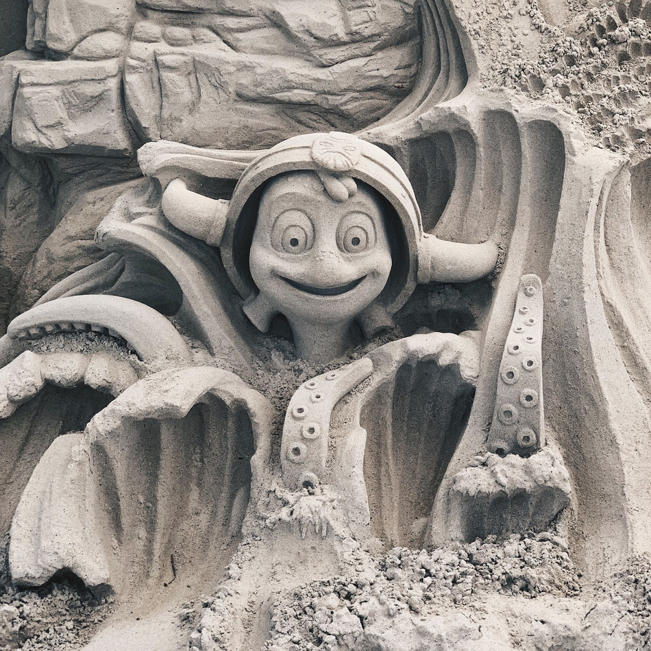 Rulantica aus Sand im Europa-Park