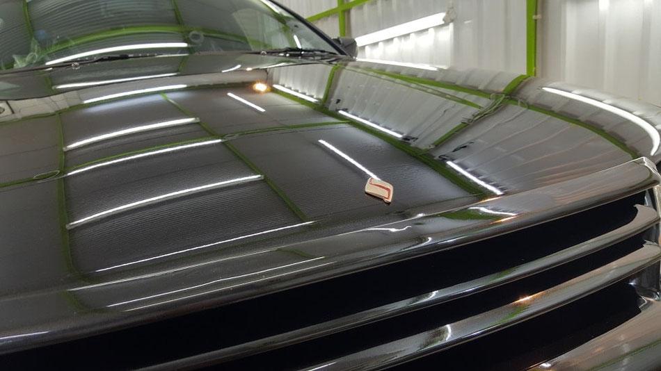 BNR32 ブラックパールメタリックの磨き 色褪せを磨きで改善