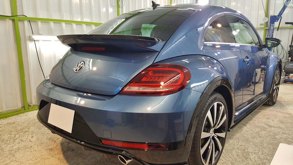 ビートルRラインマイスターのボディコーティング 埼玉の車磨き専門店 青い車の研磨