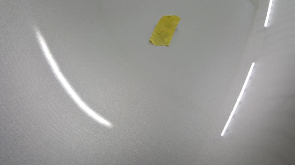 ボディーカバーの染み除去 ポルシェ996リアフェンダー