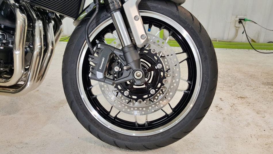 Z900RSのホイールコーティング バイクのホイール保護 埼玉