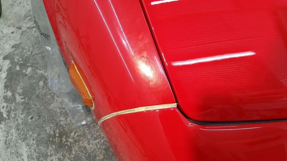 NSX ボディカバー傷 色あせ 赤 白ボケ ニューフォーミュラレッド