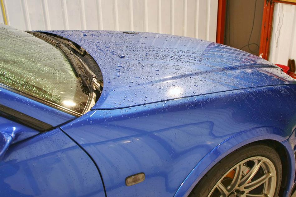 BNR34のメンテナンス洗車で艶が向上