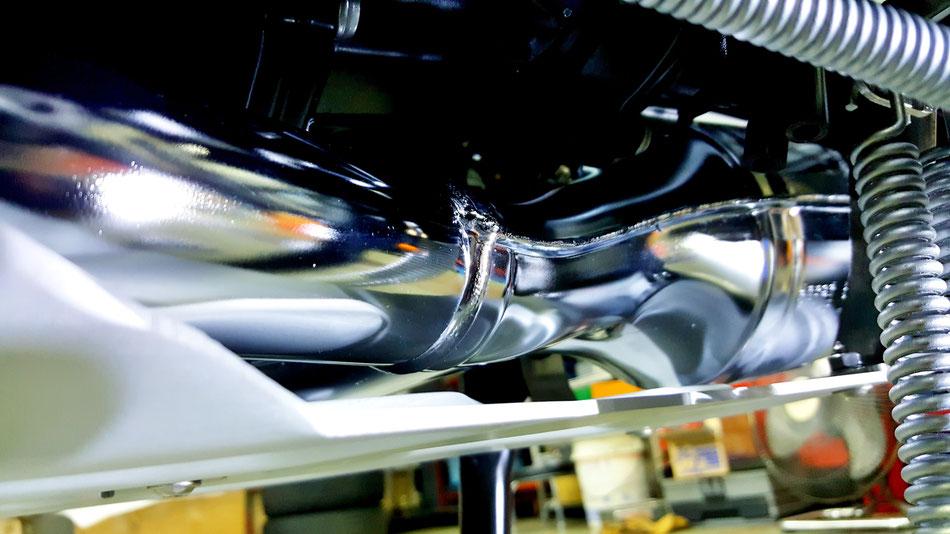 R1200GSのマフラー・下回りのコーティング