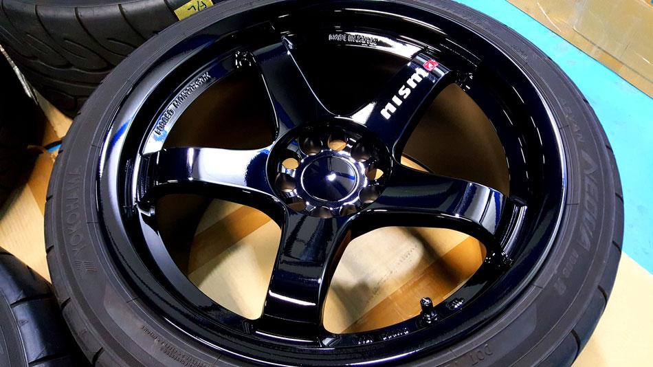 LMGT4 NISMO マシニングロゴ ホイールコーティング 埼玉の車磨き専門店