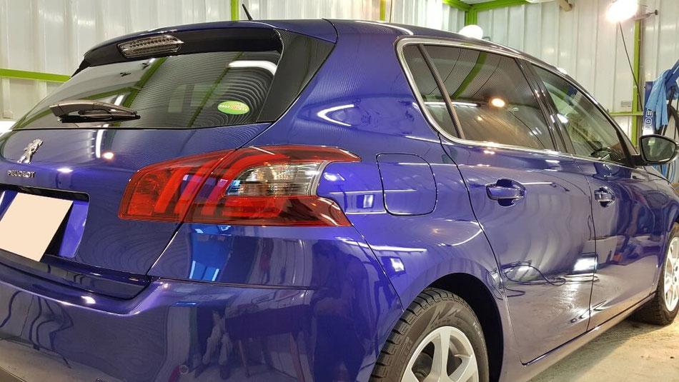 プジョー308のコーティング完成 埼玉の車磨き専門店 所沢 三芳 濃色車