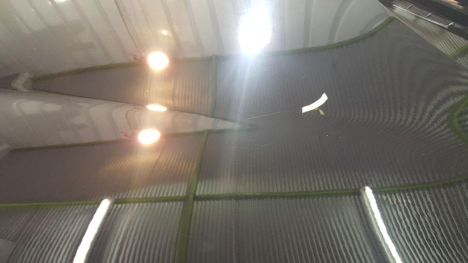 ジャガーFタイプRのボンネット磨き後 埼玉の車磨き専門店・アートディテール