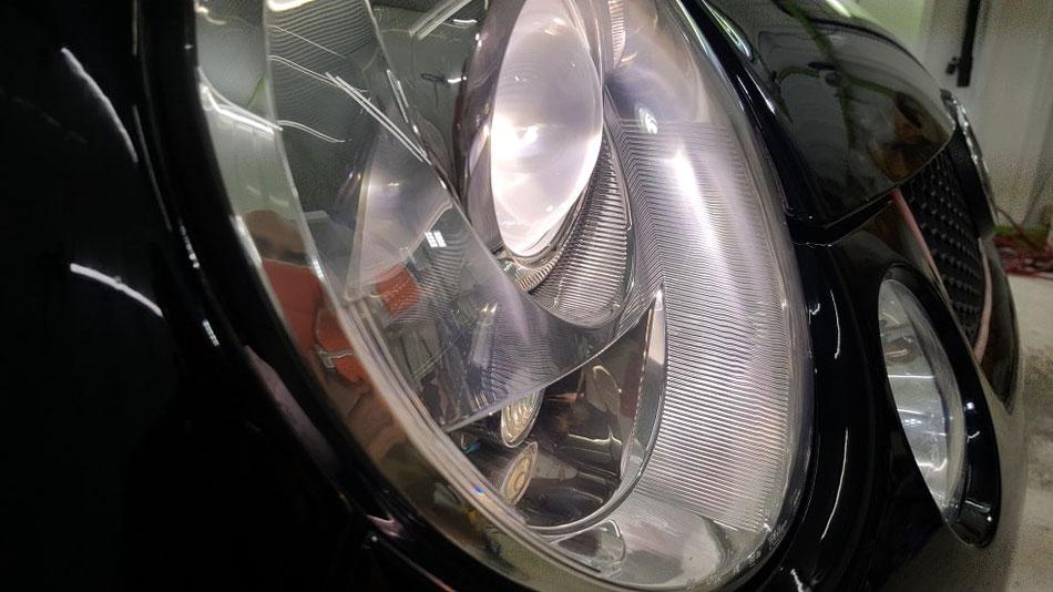 ルポGTIカップカー ヘッドライトのひび・黄ばみ除去 埼玉の車磨き専門店・アートディテール 所沢 三芳