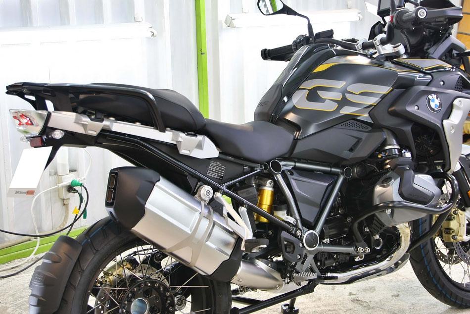 新車の1250GSの磨き・コーティング施工 埼玉のバイク磨き専門店 艶消し塗装のガラスコーティング マットカラーのセラミックコーティング