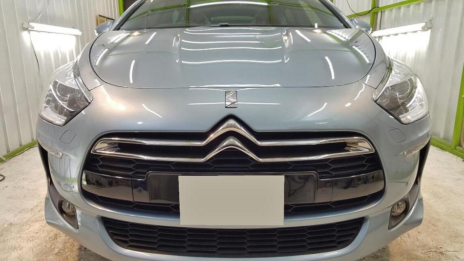 シトロエンDS5のボディコーティング完成 埼玉の車磨き専門店 フランス車の磨き シミ・イオンデポジット除去