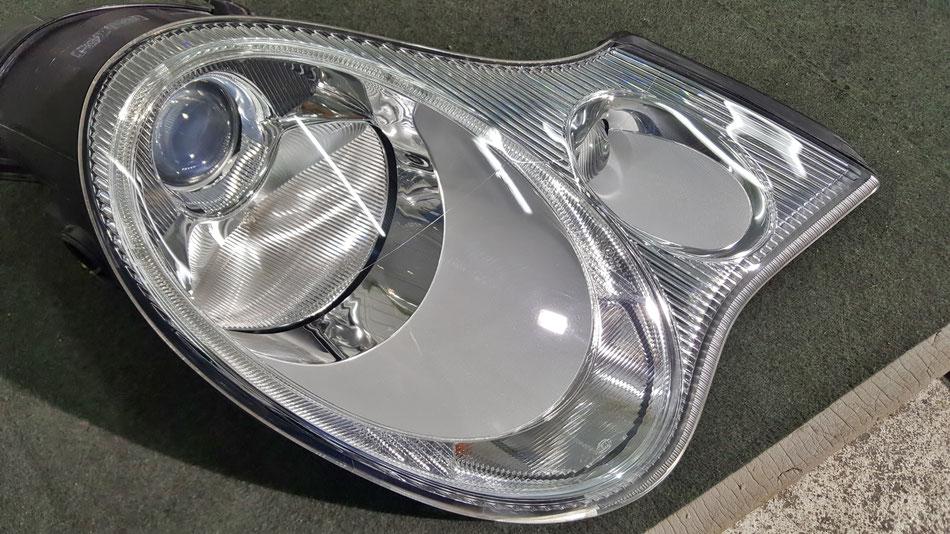 996ヘッドライト磨き・コーティング完成 ライト右側