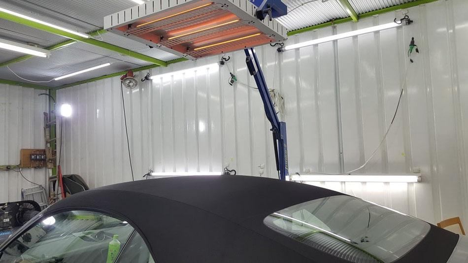 991GTSカブリオレの幌コーティング キャンバストップ 黒い幌 埼玉の車磨き専門店・アートディテール