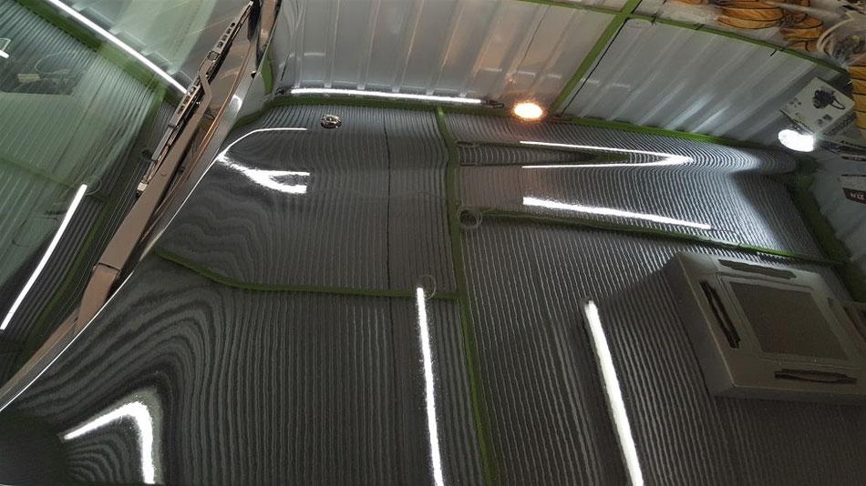 BNR32のシミ・クレーター除去 埼玉の車磨き専門店 塗装の色あせ改善 黒い車の研磨・コーティング