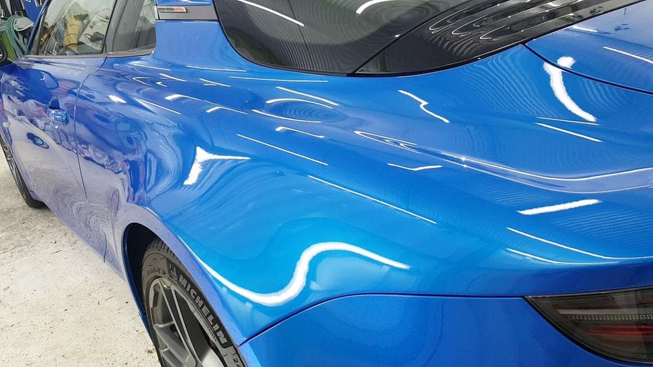 アルピーヌ・A110S 新車のコーティング ブルーアルピーヌメタリック 埼玉三芳