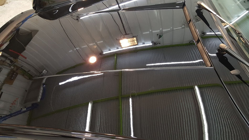 930ターボ ボンネットの磨き 傷・シミ・クレーター除去 埼玉の車磨き専門店 黒ソリッド