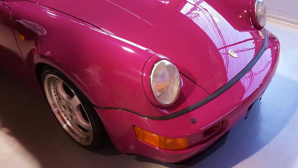 964ターボの艶出し磨き・花粉染み除去 丁寧な車磨きは埼玉のアートディテール