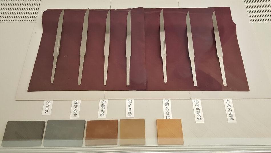 刀の磨き工程は、車以上に細かい。