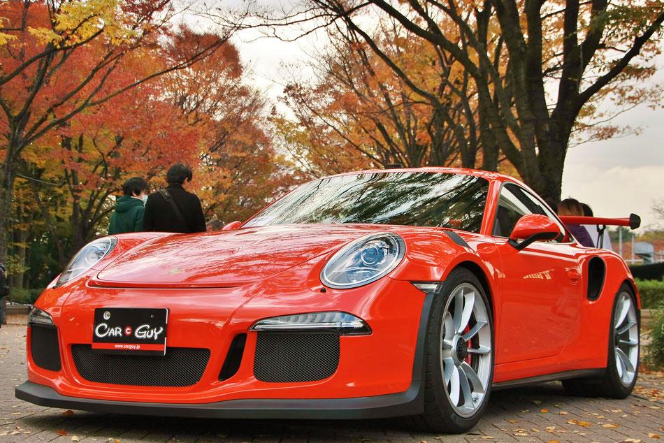 ポルシェ991GT3RS シブヤスポーツカーフェス 代々木公園 紅葉 渋谷