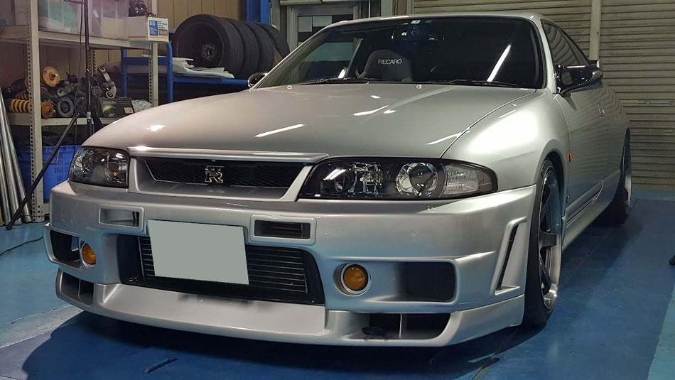 R33GT‐Rの研磨・コーティング 埼玉の車磨き専門店アートディテール シルバーのスカイライン