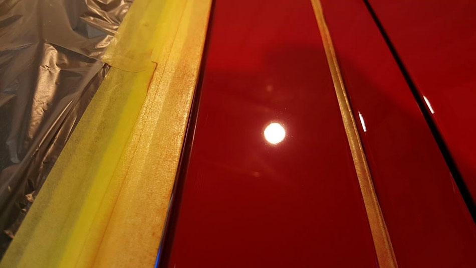 BMW E30カブリオレの傷除去 赤ソリッドの磨き・コーティング アートディテール