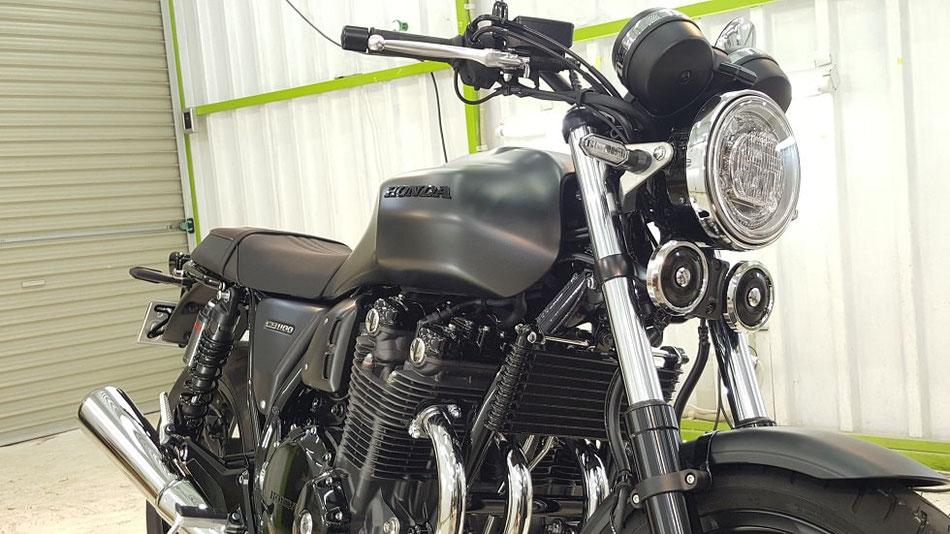 CB1100RS マットバリスティックブラックメタリック セラミックコーティング 埼玉のバイク磨き専門店・アートディテール