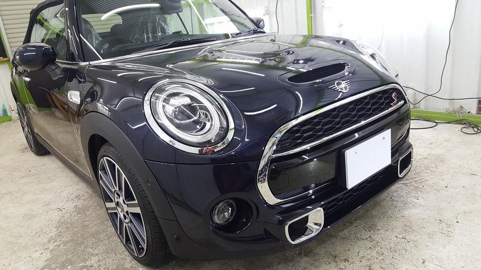 ミニクーパーS・カブリオレ新車のナノガラスコーティング完成 埼玉の車磨き専門店。アートディテール
