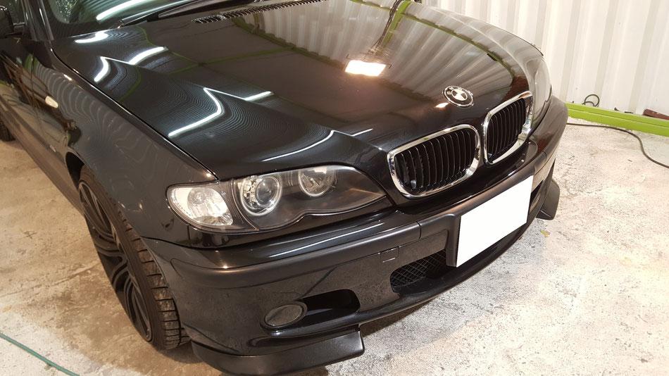 埼玉三芳の車磨き専門店 傷消し BMW320 E46Mスポーツ 熊谷 久喜 三郷 上尾