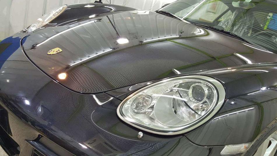 ケイマンの磨き・コーティング完成 埼玉の車磨き専門店 黒い車の色褪せ改善